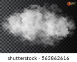 fog or smoke isolated... | Shutterstock .eps vector #563862616