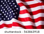 beautifully waving star and... | Shutterstock . vector #563863918