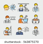 construction worker civil... | Shutterstock .eps vector #563875270