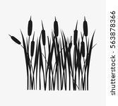 Reed Grass Black Silhouette....