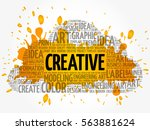 creative word cloud  creative... | Shutterstock .eps vector #563881624
