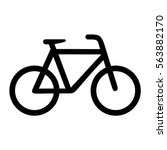 bicycle  black isolated icon ... | Shutterstock .eps vector #563882170
