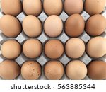 a carton of eggs sold in... | Shutterstock . vector #563885344