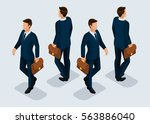 trend isometric people... | Shutterstock .eps vector #563886040