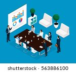 trend isometric people... | Shutterstock .eps vector #563886100