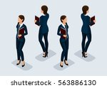 trend isometric people... | Shutterstock .eps vector #563886130
