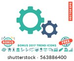 cobalt and cyan gears... | Shutterstock .eps vector #563886400