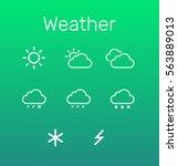 weather icon set. flat design