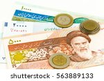 some iranian rial bank notes... | Shutterstock . vector #563889133