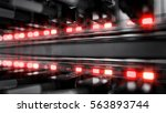 lights and connections on... | Shutterstock . vector #563893744