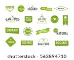 organic labels set. collection... | Shutterstock .eps vector #563894710