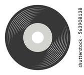 vinyl record vector | Shutterstock .eps vector #563908138