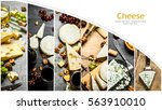 Food Collage Of Cheese .