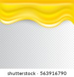 vector background with honey... | Shutterstock .eps vector #563916790