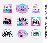 set of flat design sale... | Shutterstock .eps vector #563920588