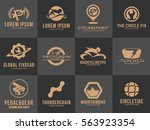 premium bicycle logo set... | Shutterstock .eps vector #563923354