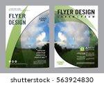 greenery brochure layout design ... | Shutterstock .eps vector #563924830