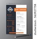 clean modern design template of ... | Shutterstock .eps vector #563927758