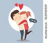 i love you | Shutterstock .eps vector #563930509