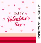happy valentines day card  | Shutterstock .eps vector #563931949
