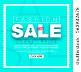 fashion sale banner. social... | Shutterstock .eps vector #563932678