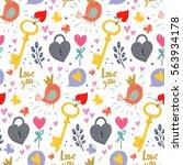 vector hand drawing pattern... | Shutterstock .eps vector #563934178