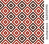red color repeated squares and... | Shutterstock .eps vector #563935990