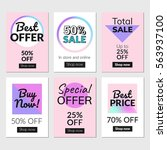 sale banners set and ads web... | Shutterstock .eps vector #563937100