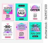sale banners set and ads web... | Shutterstock .eps vector #563937103