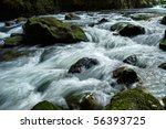 Rocky Stream Running Water