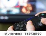 video game controller closeup... | Shutterstock . vector #563938990