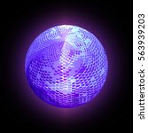 abstract glowing sphere on a... | Shutterstock . vector #563939203