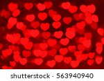 red hearts bokeh as background  ... | Shutterstock . vector #563940940