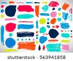 big set of grunge brush stroke. ...   Shutterstock .eps vector #563941858
