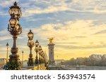 view on the  bridge of... | Shutterstock . vector #563943574