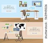 illustration of modern colorful ...   Shutterstock .eps vector #563945026