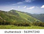 beautiful scenery of big krivan ... | Shutterstock . vector #563947240