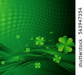 st patrick's day background... | Shutterstock .eps vector #563947354