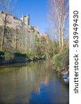 Small photo of Segovia - Alcazar castle over the Rio Eresma.