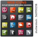 music icons set in flat design... | Shutterstock .eps vector #563950258