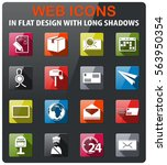 post service icons set in flat... | Shutterstock .eps vector #563950354