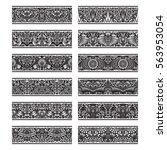 floral patterned vintage... | Shutterstock .eps vector #563953054