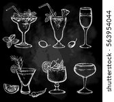 cocktail set. design elements... | Shutterstock .eps vector #563954044