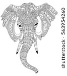 elephant portrait vector... | Shutterstock .eps vector #563954260