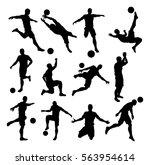 a set of soccer footballer...   Shutterstock . vector #563954614