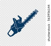 chainsaw vector icon