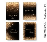 set of backgrounds with holiday ... | Shutterstock . vector #563966314