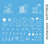 mega pack of weather icons with ...   Shutterstock .eps vector #563975818
