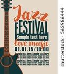 vector banner for the concert... | Shutterstock .eps vector #563986444