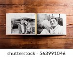 photo album with black and... | Shutterstock . vector #563991046